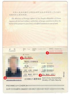 乌克兰签证材料护照模板